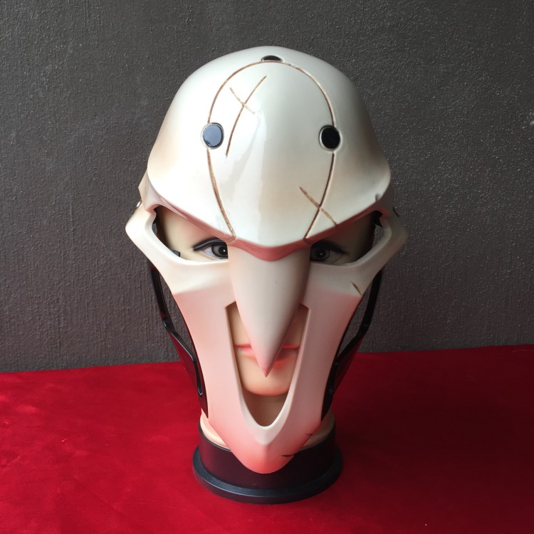 OW Reaper Mask Cosplay Costume Helmet Resin Plastic Halloween Game Gifts Anime Party