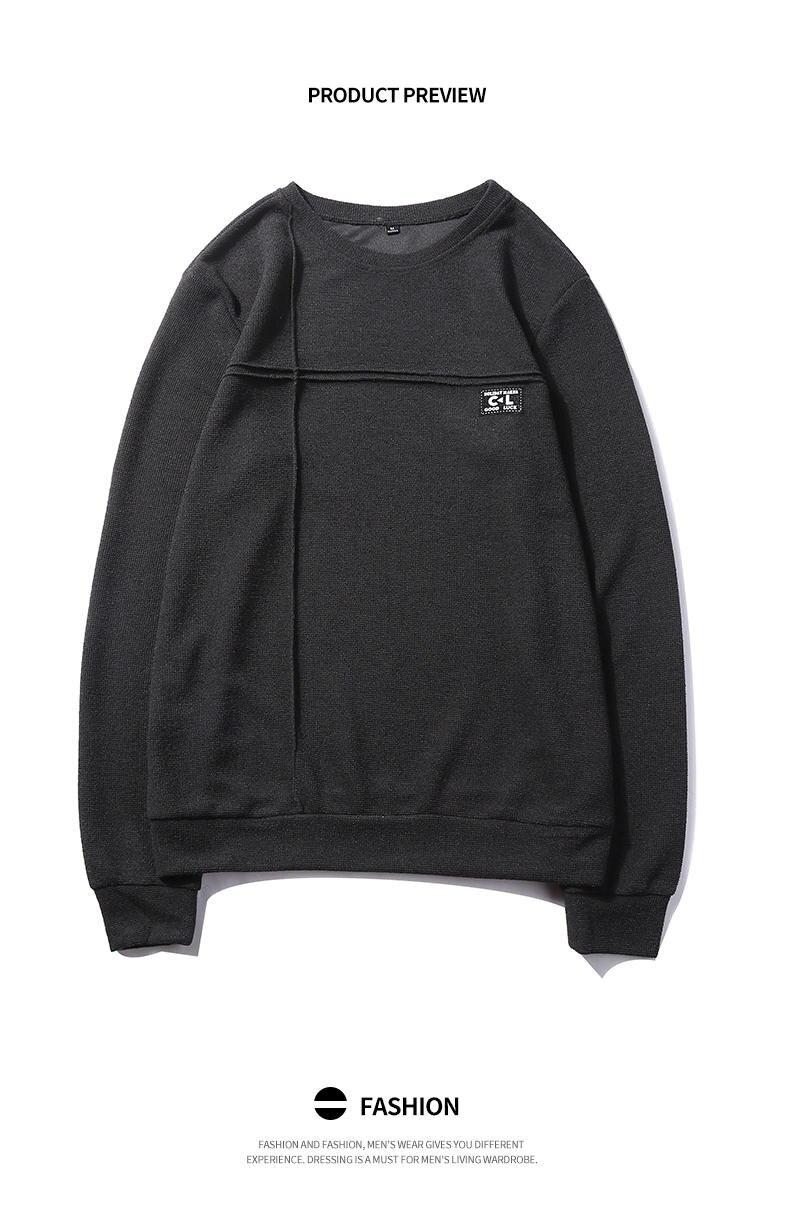 2019 New Fashion Hoodies Shirts Men Sweatshirts Male Solid Hoody Korean Styele O-Neck Autumn Spring Winter Brand Streetwears 04