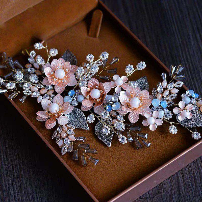 Barokowy Retro ręcznie narzeczonych opaski do włosów panny młodej nakrycia głowy akcesoria do włosów ślubne wieczorowe z kryształem górskim biżuteria do włosów w Biżuteria do włosów od Biżuteria i akcesoria na  Grupa 3