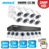 ANNKE 8CH 1080P HD TVI DVR 8x 2MP Smart Search Home Security Camera System 1TB