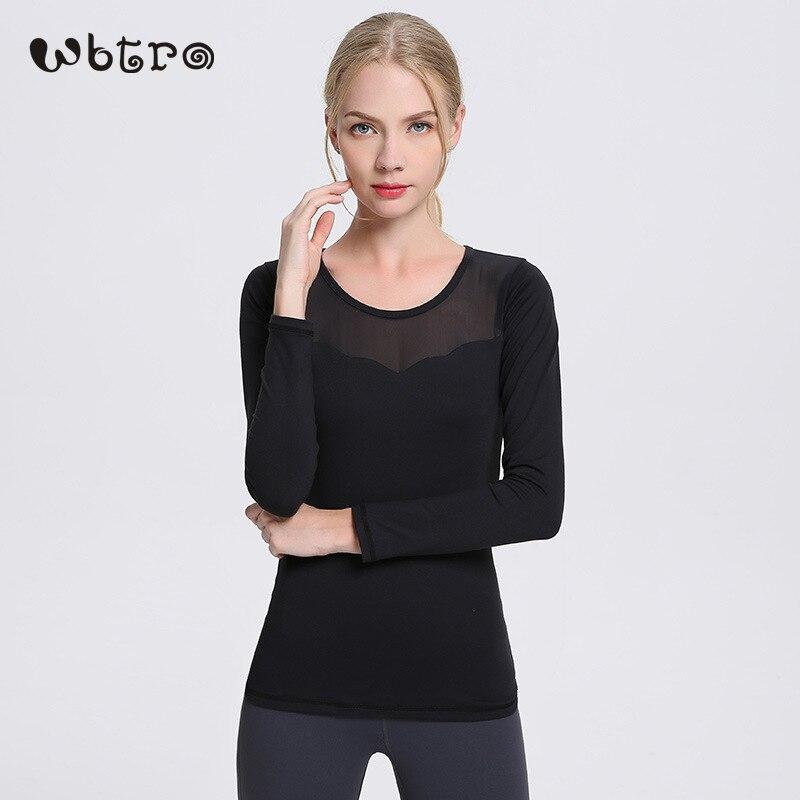 Livraison Gratuite WBTRO Gym chemise femme vêtements de bonne forme physique de Course Cycliste Exercice t-shirts de Sport Sport Top Manches Longues maillots de yoga