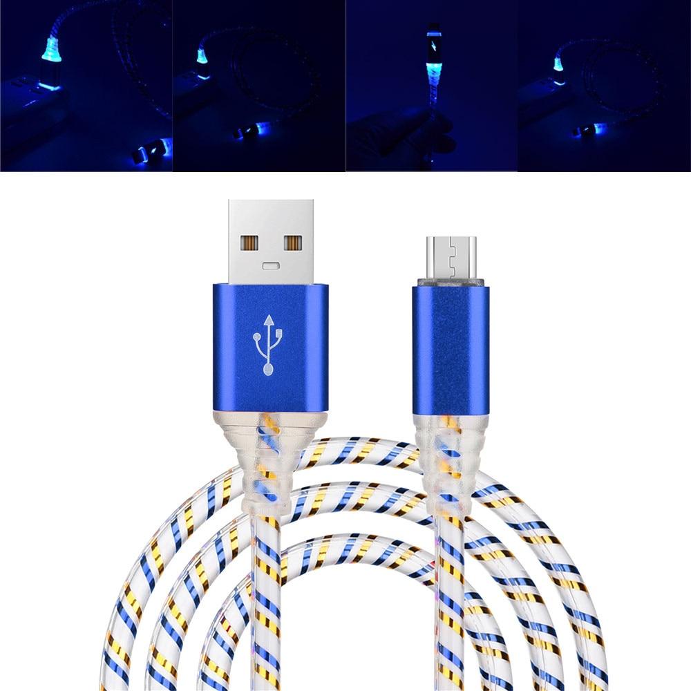 Led Licht Mirco Usb-kabel Usb 3.1 Synchrone Data Sneller Veilig En Duurzaam Charger Cable Voor Android Computer Datakabel #3 $ Rijk En Prachtig