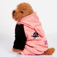 Fashion Pet Dog Clothes 100 Cotton Four Clothes Thick Warm Cat Pattern Sweater For Small And