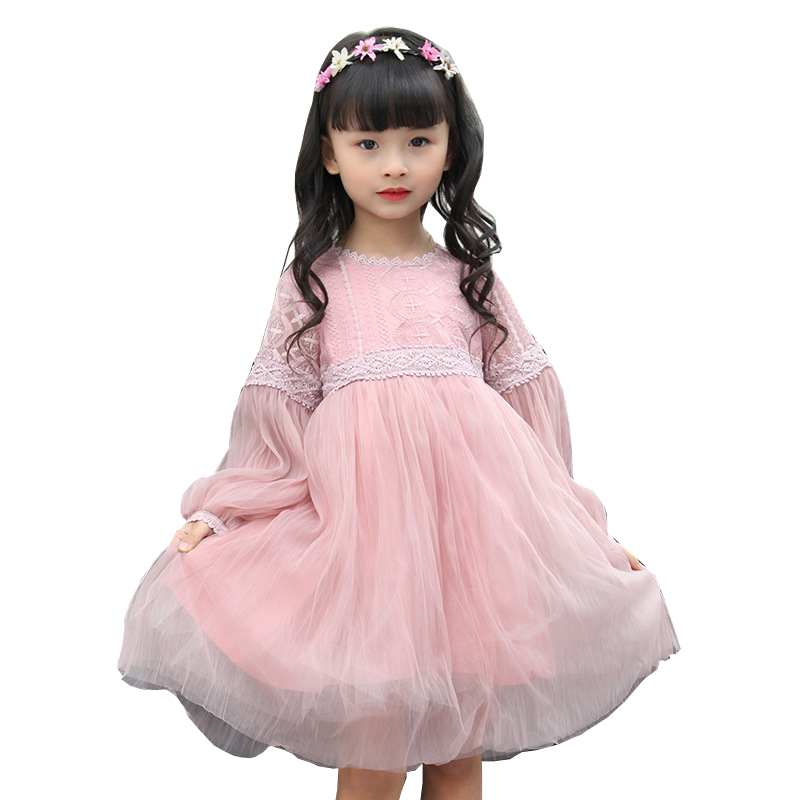 83124173d66bf US $19.5 40% OFF|luoyamy Spring Summer Baby Chiffon Lace Patchwork Dress  Girls Zipper Dress Kids Graduation Gowns Children Clothing Prom Dresses-in  ...