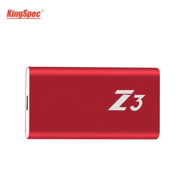 Wholesale KingSpec 64GB 128GB 256GB 512GB External SSD Type-c USB 3.1 Portable SSD HD Externo 1TB With USB3.1 Gen1 Interface