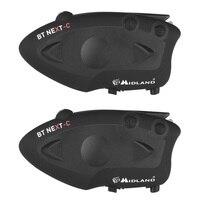 2 шт. MIDLAND BT NEXT мотоцикл Bluetooth домофон водонепроницаемый 1600 м Мото шлем гарнитура FM мотоцикл домофон до 6 гонщиков