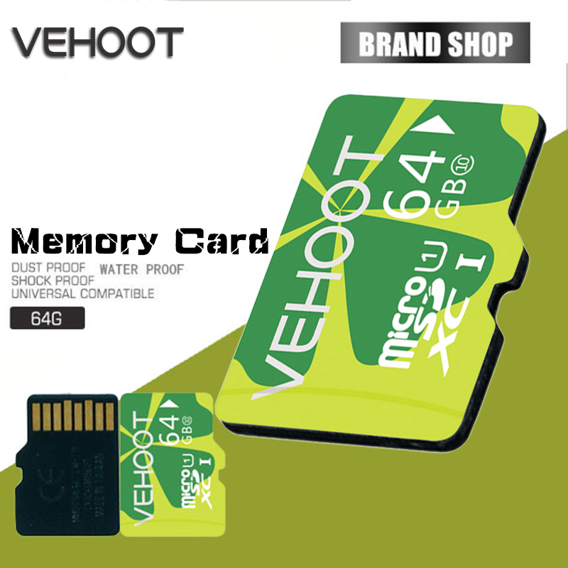 2016 SD Card 64gb Microsdxc Class 10 Memory Card Flash Card Green Leaves Micro Sd 64 gb Carte SD Mikro SD for Camera Tablet PC