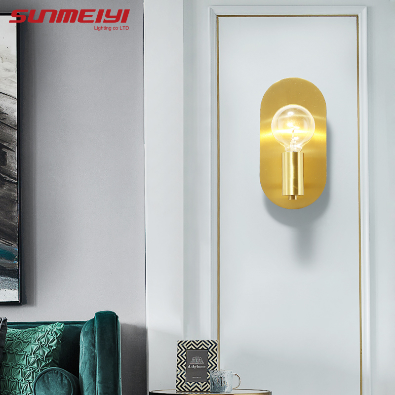 Mur LED moderne allume l'applique en cuivre pour la maison couloir salon cuisine Restaurant aplique de pared escalier mur LED lumière
