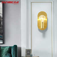 Modern LED Wall Lights Copper Sconce For Home Corridor Living room Kitchen Restaurant aplique de pared Stairs LED Wall Light