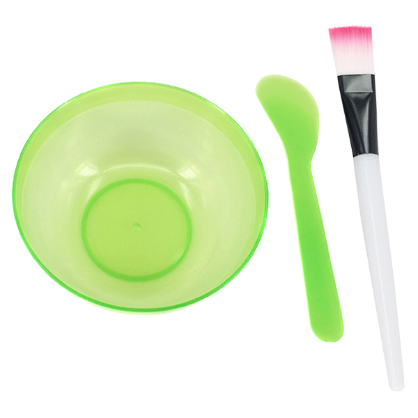Hot Sale Facial Mask Bowl Kit Bowl Brush Spoon Stick Plastic Brush Stirring Rod Homemade Women's Makeup Beauty DIY Tool Set