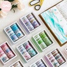 Mr Paper 10pcs/set 24 Designs Cute Ocean Stars Flamingo Unicorn Washi Tape Japanese Journal Planner Masking Tapes Adhesive