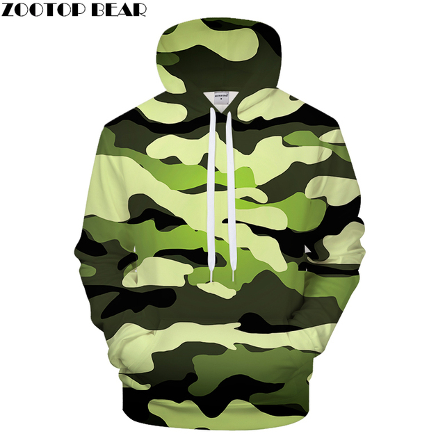 quality design 73942 7f72b Pea Green Camo 3D Print Hoodies Men Women Casual Hoody Boy Sweatshirt  supreme Tracksuit Pullover GrootCoat