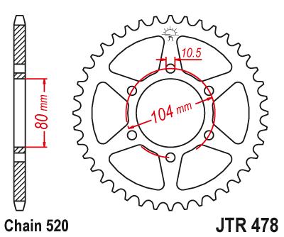 520 チェーン 39T 40T 41T 42T 43T 45T 46T スプロケット EN650 ER 6f ER 6n EX650 KLE650 Z650 Z750 Z800 ZX 6R ZX 6RR ZXR400  グループ上の 自動車 &バイク からの 歯車 の中 2