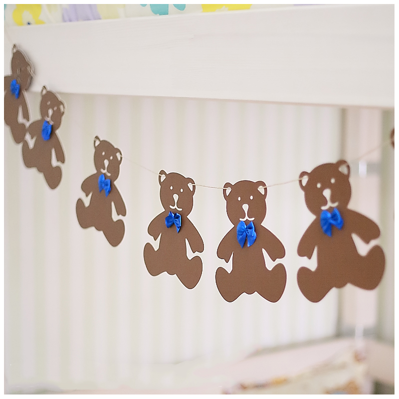 Paper Bunny Lovely Teddy Bear Rabbit Garland Birthday Party Kids Garlands Wedding Decoration Baby Shower Paperboard Garland