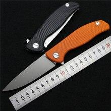 Green thorn hati 95 Flipper folding knife bearing D2 blade G10 Steel handle outdoor camping hunting pocket fruit knife EDC tools