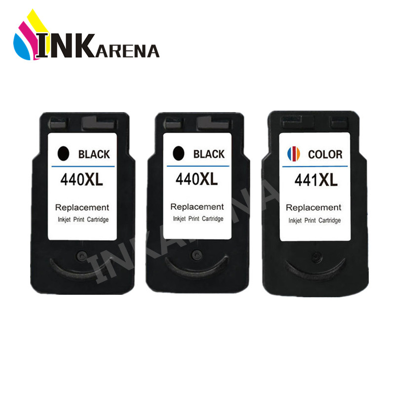 3PCS Compatible for Canon 440 441 Ink Cartridge PG440 CL441 for Canon PIXMA MG2240 MG3540 MG4140