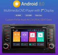 XTRONS 7 Android 8.0 Octa Core GPS Radio Car DVD Player for Audi A4 S4 B6 B7/RS4 2002 2003 2004 2005 2006 2007 2008/SEAT Exeo