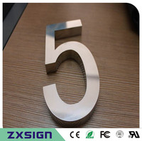 Factory Outlet Outdoor 304 Stainless Steel House Number Sign For 15cm 6inches High Metal Doorplate