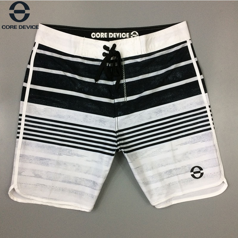 2019 New Elastic Fabric Striped Summer Comfort Men   Board     Shorts   Swimwear Men Beach   Shorts   Men Bermuda   Short   Boardshorts