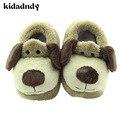 Modelos de Inverno Chinelo de pelúcia Sapatos Sapatos de Conforto Para As Crianças Dos Desenhos Animados Do Bebê Único Original Da Criança Do Bebê Sapatos Fundo Macio TCS6007