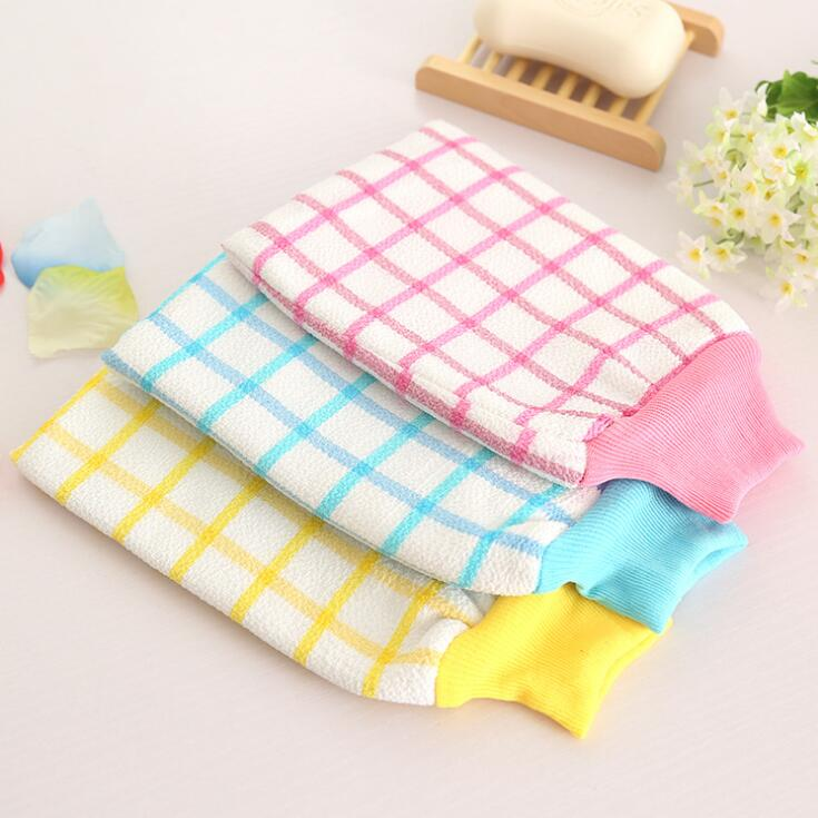 Korean Double Magical Rubbing Bath Gloves Bathroom Towel Inside Thick Bath Towel Cleaning Body Rough Thicken Top Quality