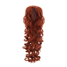 """""""18""""""""Synthetic Ponytail Wigs Hair Extensions Clip On Hairpieces Brown Blonde Wave Clip In Ponytail Hair Extensions Heat Resistant"""""""