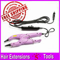 Pink Color New Loof POP Style Fusion Hair Extension Connector Iron With Adjustable Temperature Control, Plugs Optional