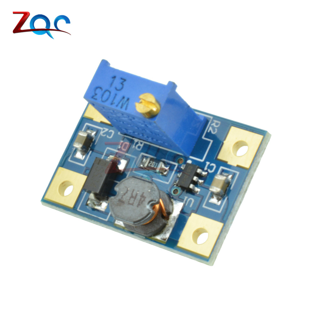 DC-DC 2-24V to 2-28V 2A SX1308 Step Up Adjustable Power Module Step Up Boost Converter Module 5 pcs dc dc adjustable boost module 2a boost plate 2a step up module with micro usb 2v 24v to 5v 9v 12v 28v mt3608 lm2577