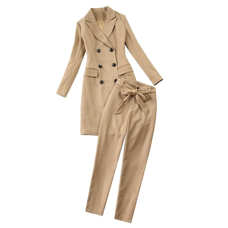 Unidades Blazer 2 Pantalón Chaqueta Victoria Conjuntos Doble One Mujeres Botonadura Trajes Mujer Lápiz De Set Beckham Slim 2018 Trabajo wwIz7qHO