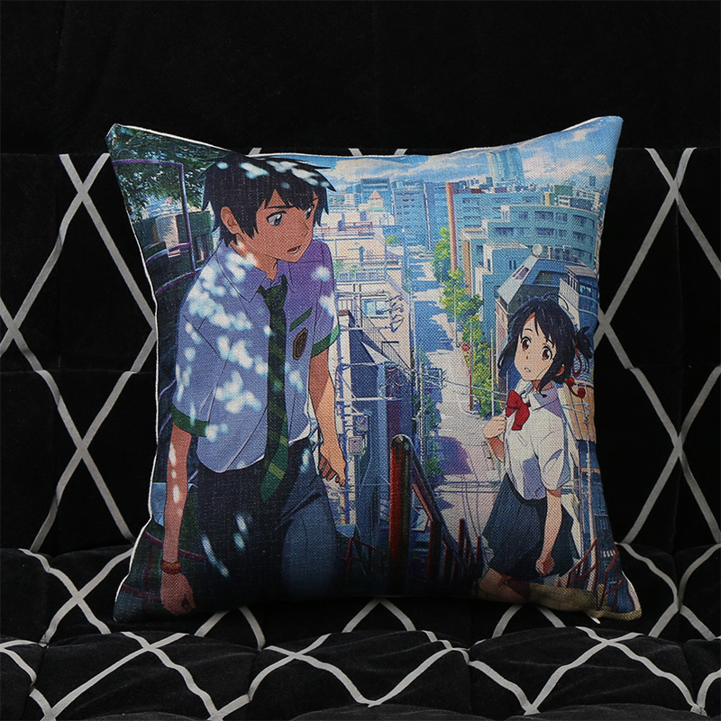 Japanischen Anime Ihr Name Miyamizu Mitsuha Kissenbezug Sofa Stuhl - Haustextilien - Foto 5