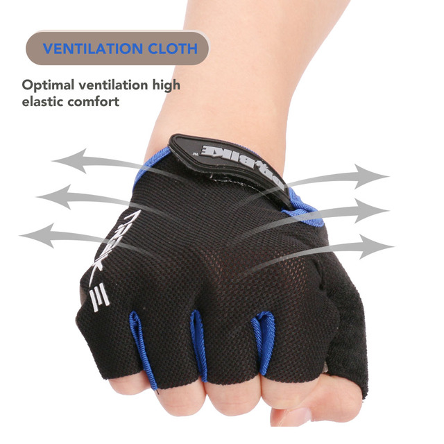 Half Finger Cycling Bike Gloves with Absorbing Sweat Design for Men and Women Bicycle Riding Outdoor Sports Accessories