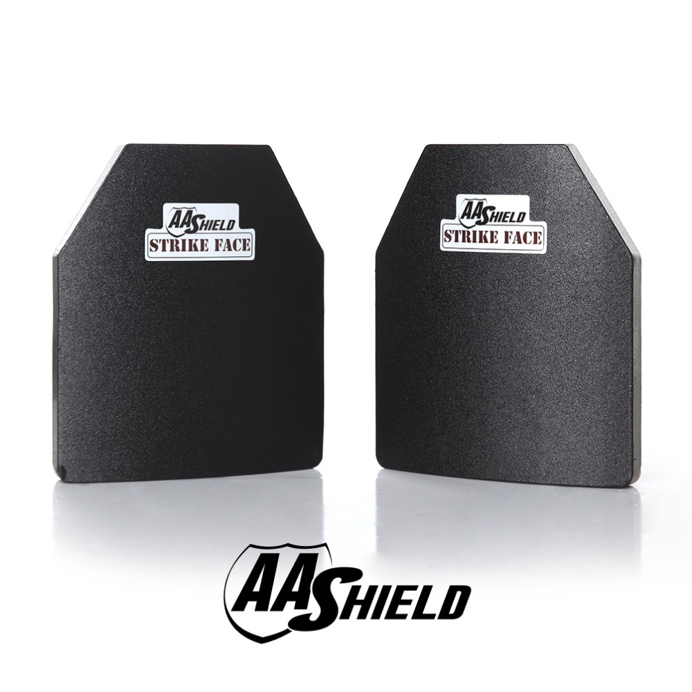 AA Shield Bullet Proof Ultra-Light Weight Hard Plate Body Armor Inserts Safety Shooter Cut NIJ Level III 3 10x12 Pair