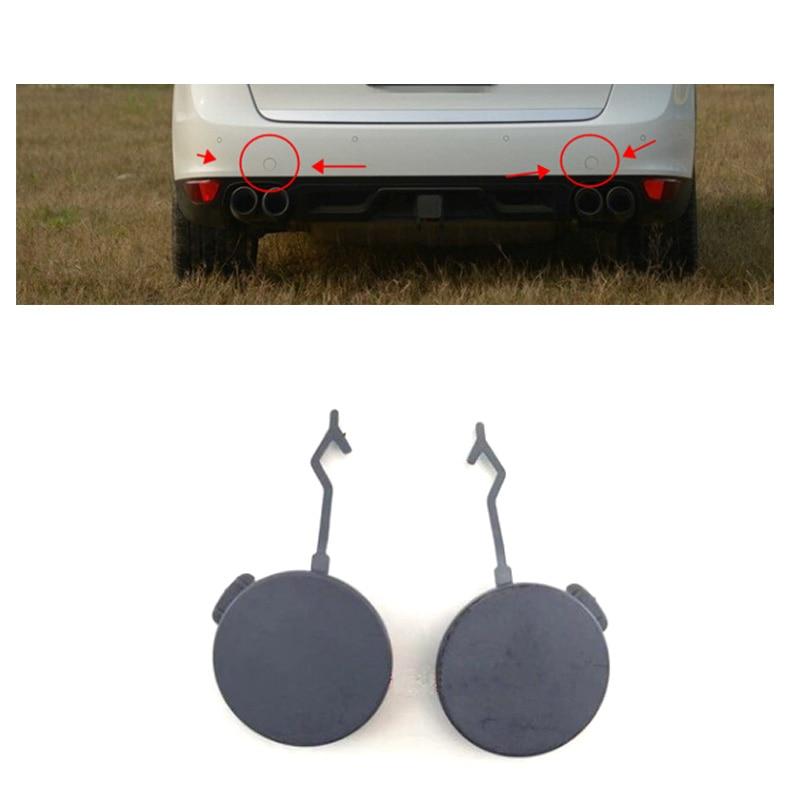 For Porsche Cayenne 2008-2010 Pair rear Bumper Tow Hook Cover Cap TOW BRACKET