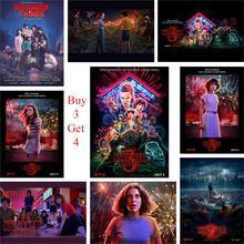 Необычные вещи Сезон 3 плакаты 13 символов глянцевая бумага печатает яркие цвета домашнего искусства украшения