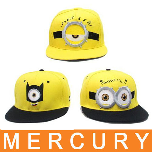 New european and american hat cute character minions pattern baseball caps  boys and girls travel snapback 4447bd07f57d