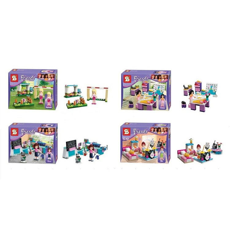 4 pcs/set my Anna and Elsa castle block New Band little Toys Movable Cartoon Dolls & Accessories poni for Birthday Gift lepin dolls and accessories