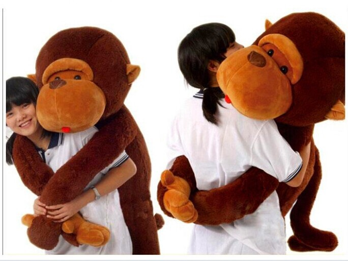 very big 130cm lovely monkey plush toy long arm monkey doll , throw pillow birthday gift Christmas gift w6202