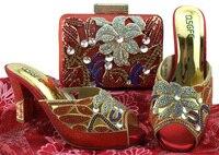 Высокое качество в нигерийском стиле модная обувь и сумка в комплекте Новые итальянские туфли и сумки в африканском стиле Дамская обувь и с