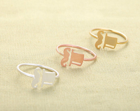 wholesale 30 pce/lot mix color Designer Jewelry Cap Moustache Ring Cute Midi Rings For Girls Free Shipping