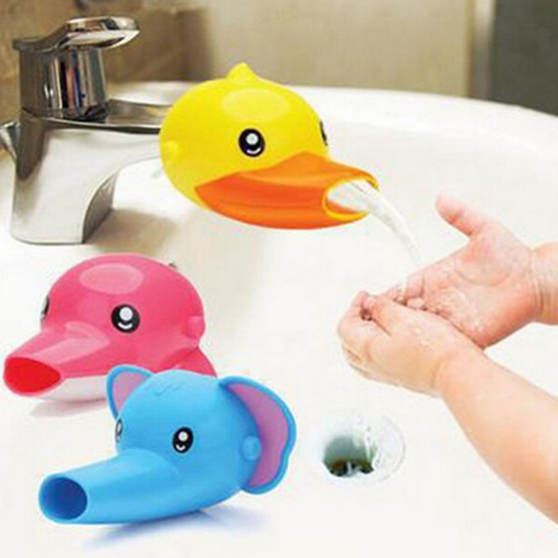 1 pcs Happy Fun Animals Faucet Extender Baby Tubs Kids Hand