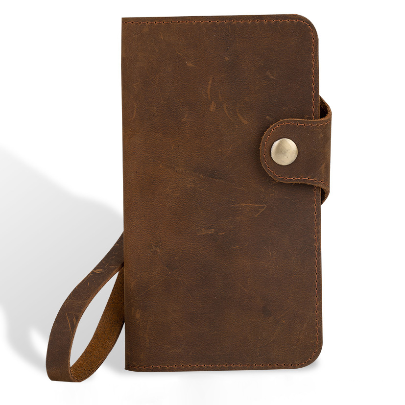 Wangcangli étui pour iPhone 8 en cuir véritable X sac à main en peau de cheval fou fentes pour cartes couverture de téléphone pour iPhone 6 6 S 7 Plus portefeuille