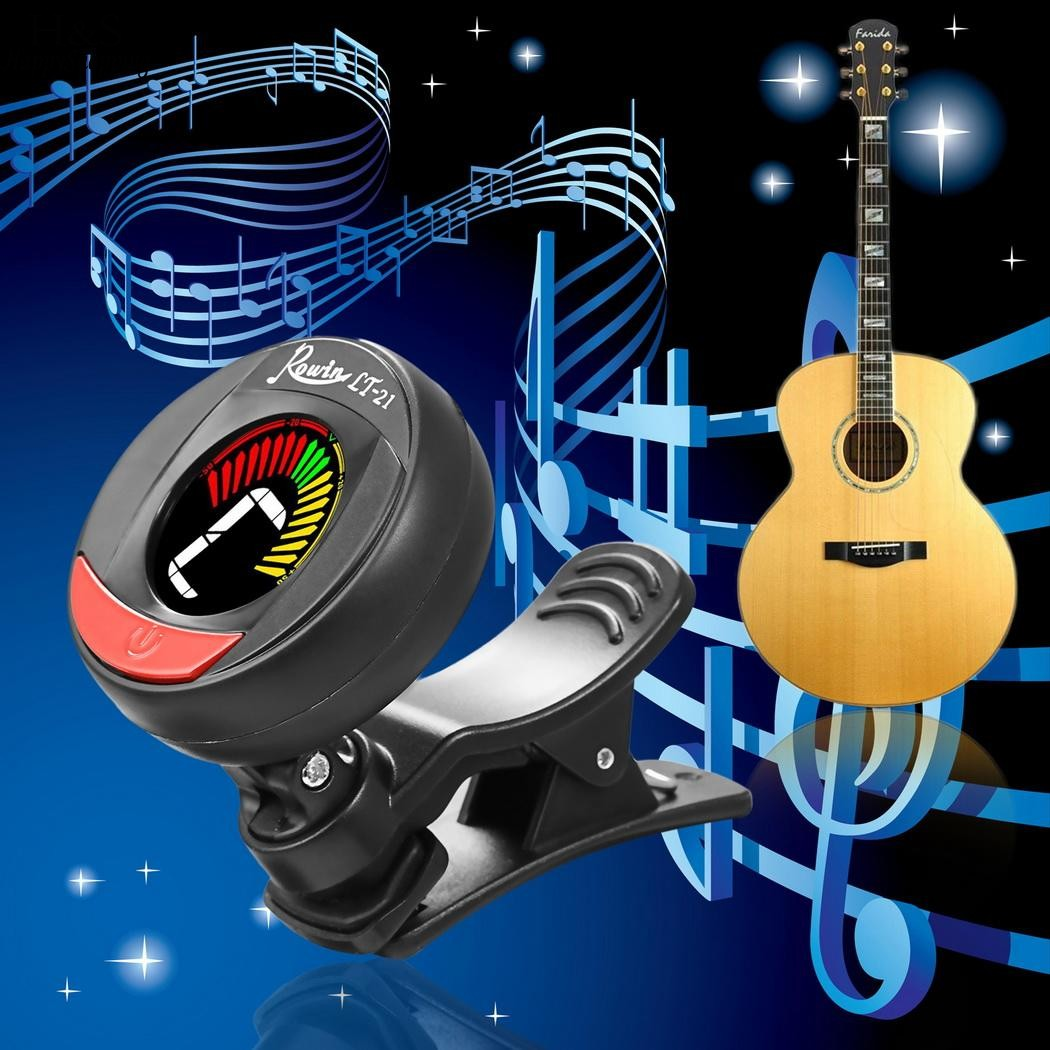 Mini Clip-On Digital Tuner for Guitar Bass Violin Ukulele Chromatic