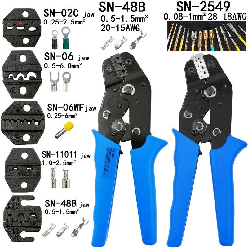Crimpen Zangen Sn-2549 0,08-1mm2 Sn-48b 0,5-1.5mm2 Und 5 Backe Für 2,8 4,8 6,3 Vh2.54 3,96 2510 /rohr/insuated Terminals Werkzeuge Werkzeuge Handwerkzeuge