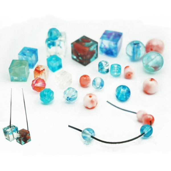 A+ Quanlity Jewelry Square Round Beads With Hole Shape Body Pendant Casting Mold Tools Silicone Resin Craft DIY Jewelry Tool