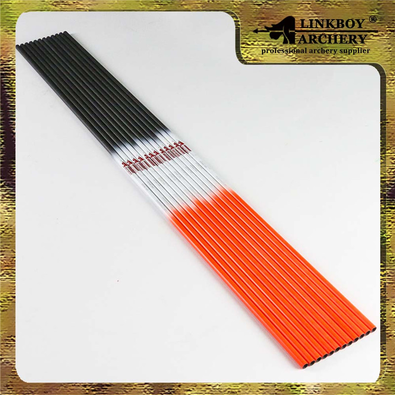 12pcs Bright Orange White and Black Shafts Compound Hunting Bow and Arrow DIY Free Shipping Archery Slingshot piaoyu black warrior compound bow set hunting camouflage and black triangle hunting arrow set and archery set
