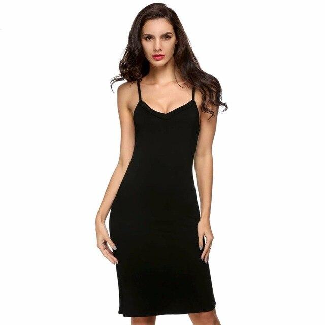 Summer Sleepwear Ladies Women Full Slips Underdress Strap Modal Long Romantic Nightgown Sexy Slip Dressing Gown Home Wear D15