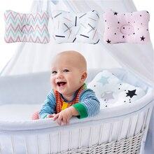 Muslinlife мягкая квадратная подушка с принтом детская подушка для новорожденных хлопковая спальная Подушка Детская позиционер Анти ролл украшение комнаты Прямая поставка