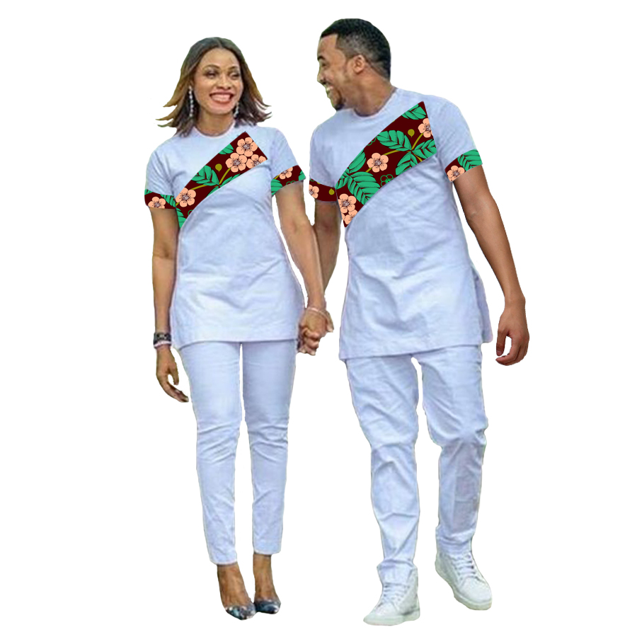US $77.69 26% OFF|African Couple Outfit Women Set +Men Sets Ankara Outfit for Couples Fashion Couple's Prom Outfits Africa Clothing T shirt