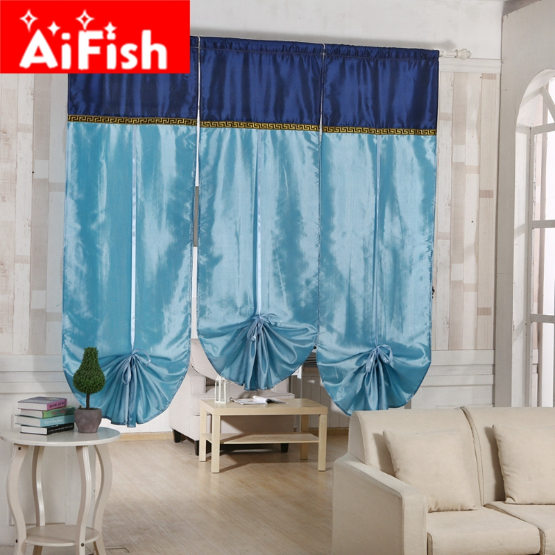 New Creative Four Styles Fashion Roman Lift Curtain For Office Bay Windows  Decorative Kitchen Curtains For Bedroom DY038 20