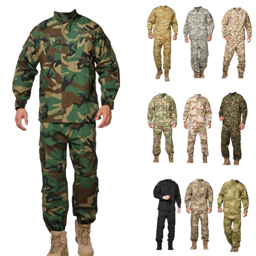 12 färger Camouflage Militär Tactical Suits Armé Militär Uniform Combat Airsoft Uniform Jacka + Byxor Army Hunting Uniform